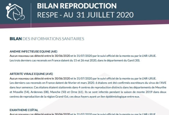 Reproduction - Monte : saison 2020